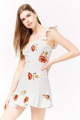Forever 21 Linen-Blend Floral Dress