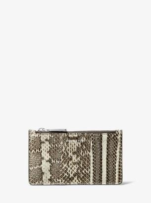 Michael Kors Small Snakeskin Card Case
