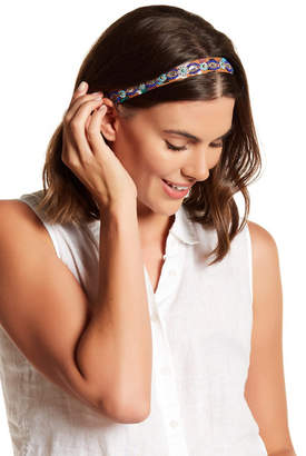 Cara Accessories Beaded Skinny Headband $14.97 thestylecure.com