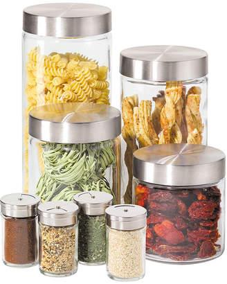 Oggi OGGITM 8-pc. Glass Canister and Spice Jar Set