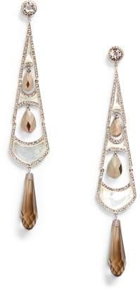 Ralph Lauren Silver Art Deco Earrings