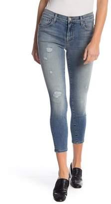 J Brand 835 Distressed Capri Skinny Jeans