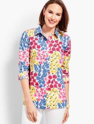 Talbots Classic Cotton Shirt-Vintage Floral