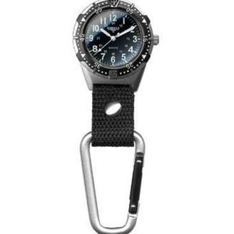 Dakota Lightweight Clip Watch with Military Dial and EL Backlight by