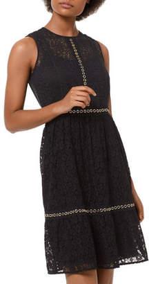 MICHAEL Michael Kors Mini Mod Floral Lace Sleeveless Dress