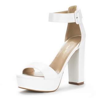 81eb2674d9e DREAM PAIRS HI-LO Women s Evening Dress High Chunky Platform Heel Open Toe Ankle  Strap