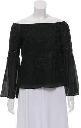 Intermix Embroidered Flared Top