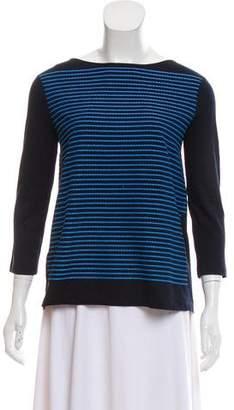 Prada Striped Three-Quarter Sleeve T-Shirt