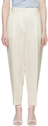 Jil Sander Off-White Silk Gianluca Fluid Cropped Trousers