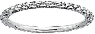 JCPenney FINE JEWELRY Personally Stackable Sterling Silver Stackable 1.5mm Criss-Cross Ring
