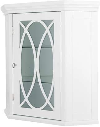 Elegant Home Fashions Florence Corner Wall Cabinet