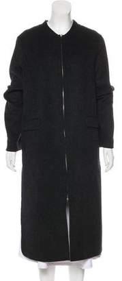 Vince Wool Zip-Up Coat