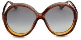 Christian Dior Bianca 58MM Round Sunglasses
