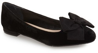 Women's Nina 'Wisdom' Embroidered Bow Flat $88.95 thestylecure.com