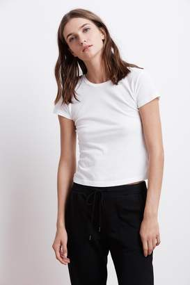 Velvet by Graham & Spencer BOYGEORGE CREW NECK CROPPED TEE