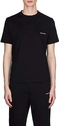 Balenciaga Men's Logo Cotton T-Shirt - Black