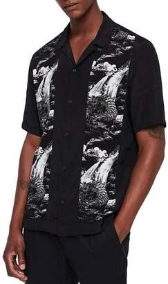 AllSaints Bozeman Slim Fit Camp Shirt