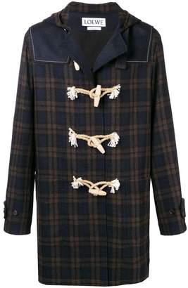Loewe tartan duffle coat