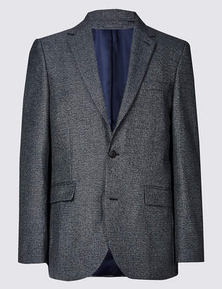 Marks and Spencer Big & Tall Textured Tailored Fit Jacket