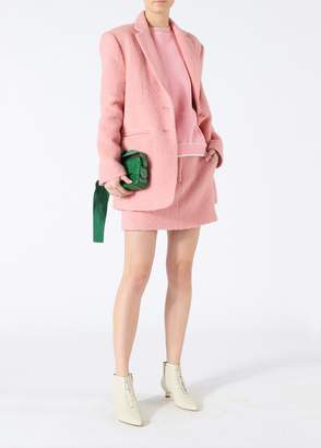 Tibi Luxe Mohair Oversized Blazer