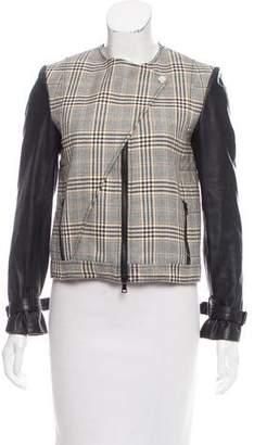 Jenni Kayne Leather-Accented Wool Jacket