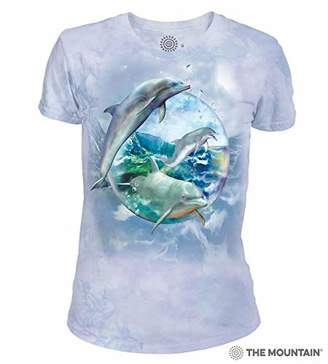 The Mountain Dolphin Bubble Adult Woman's T-Shirt
