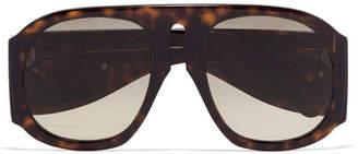 Gucci Embellished D-frame Acetate Sunglasses - Tortoiseshell