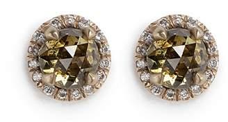 Monique Péan 'Atelier' halo diamond 18k recycled gold stud earrings