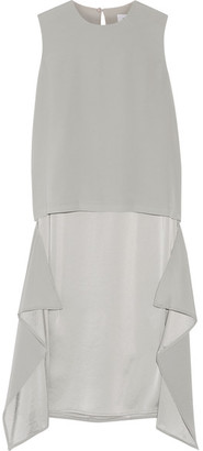 DKNY - Layered Jersey And Satin Dress - Stone $335 thestylecure.com