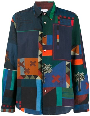 Paul Smith colour-block shirt