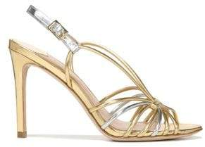 Diane von Furstenberg Milena Leather High Heel Sandals
