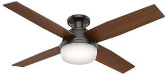 Hunter Fan 52 Dempsey Low Profile 4 Blade Ceiling Fan with Handheld Remote and Light