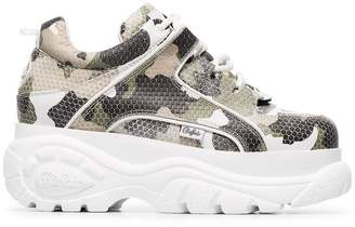 Buffalo David Bitton camo print platform sneakers