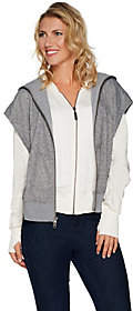 Peace Love World Layered Zip Front Jacket