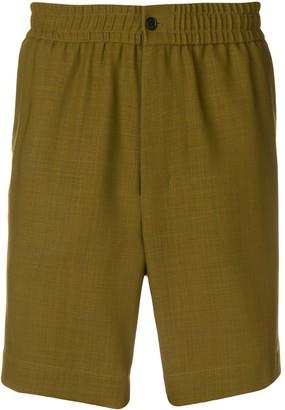 Ami Paris elasticized waist bermuda shorts