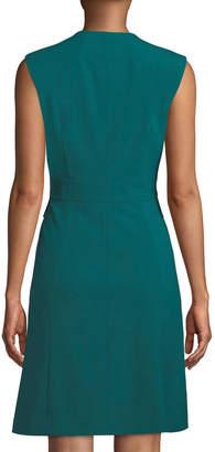 Lafayette 148 New York Zip-Front Sheath Dress