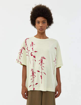Dries Van Noten Hegel Embroidered Tee in Pale Yellow