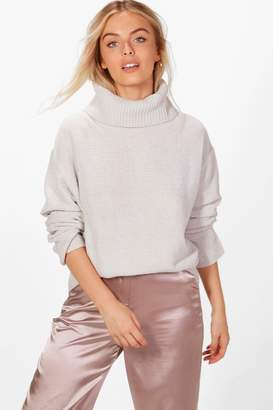 boohoo Jennie Roll Neck Chenille Jumper