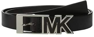 Michael Kors Women's Leather Logo Think Buckle Belt Style# 552526 In
