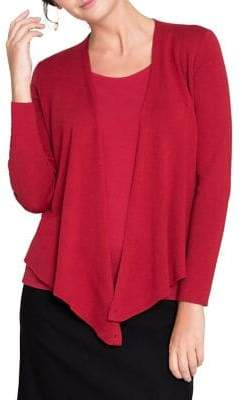 Nic+Zoe Asymmetrical Long-Sleeve Cardigan