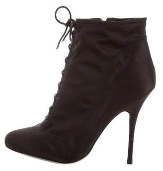 Elizabeth and James Satin Lace-Up Booties