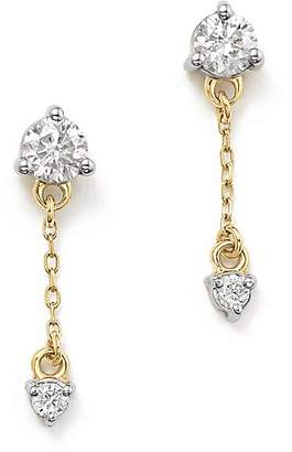 Adina 14K Yellow Gold Amigos Diamond Chain Drop Earrings