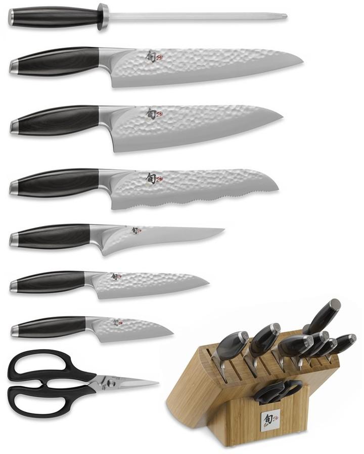 Shun Edo 9-Piece Knife Block Set