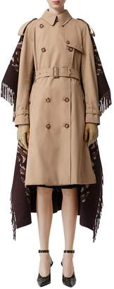 Burberry DOUBLE BREASTED CANVAS COAT & SWEATER