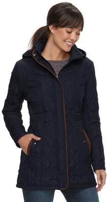 Women's Weathercast Hooded Quilted Anorak Walker Jacket