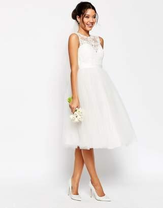Asos Edition BRIDAL Lace Sweetheart Tutu Midi Dress