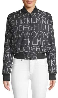 Love Moschino Blackboard Printed Bomber