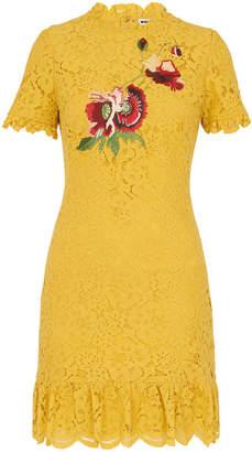 Whistles Lace Frill Hem Shift Dress