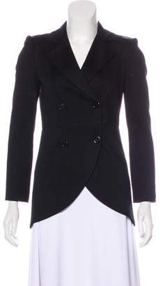 Alice + Olivia Leather-Accented Structured Blazer