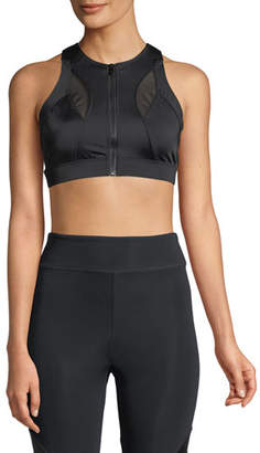 CUSHNIE Melusine Zip-Front Sports Bra